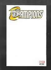 Champions 1 2016 BLANK Cover Variant very fine - near mint