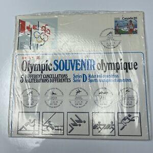 E Olympic 76 Souvenir 5 Cancellations FDC International Canada Series D