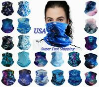 Face Mask Bandana Reusable Washable Snood Covering Neck Gaiter Neckerchief Scarf