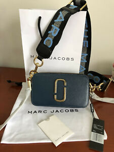 Brand new MARC JACOBS Snapshot Small Camera Bag NEW SEA BLUE bag sales....