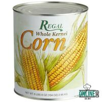 Whole Kernel Sweet Corn Crisp Side Dish Soups Chowders Salsas Pantry #10 Can