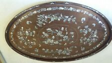 Hardwood Mother of Pearl inlaid Tray / Wall Hanging Plaque  ,