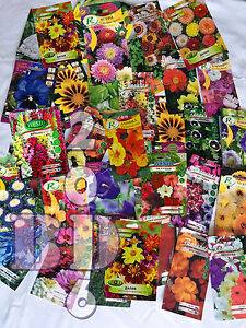£9.99 for MYSTERY SEEDS - A LOT OF MIXED FLOWERS & VEGETABLES SEEDS - 5 PACKETS