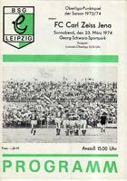 OL 73/74  BSG Chemie Leipzig - FC Carl Zeiss Jena