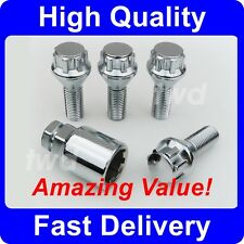 4 x ALLOY WHEEL LOCKING BOLTS - CITROEN C8 PEUGEOT 806 807 FIAT ULYSSE NUT [RM6]
