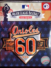 MLB Official Authentic Baltimore Orioles 60th Anniversary Patch 2014