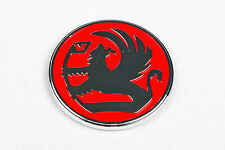 VAUXHALL 52mm DIAMETER RED BADGE LOGO BOOT DECAL TAILGATE CIRCLE WHEEL NOVA VR52
