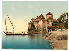 Chillon Castle I Geneva Lake A4 Photo Print