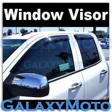 14-15 GMC Sierra 1500 Double Cab Window Visor Smoke Shade Vent Wind Deflectors
