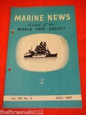 XMARINE NEWS - MAY 1967 VOL XXl # 5