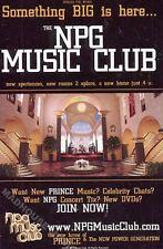 PRINCE NPG Music Club PROMO Only FLYER POSTER Rare