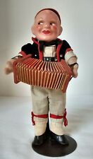 Vintage Antique Swiss Accordian Player Doll Made in Switzerland c. 1930s Ethnic