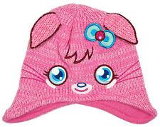Chapeaux rose en acrylique pour fille de 2 à 16 ans