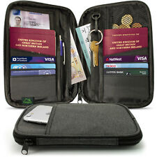 Portefeuille Passeport RFID Organiseur de Voyage pour Documents Argent Carte Clé