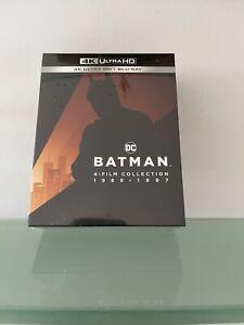 BATMAN 4 FILM COLLECTION 1989-1997 BLU RAY 4K + BLU RAY