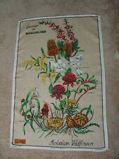 Australian Wildflowers Mooloolaba Pure Linen Tea Kitchen Towel Souvenir TAG