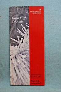 Northwest Airlines Timetable - Dec 15, 1991