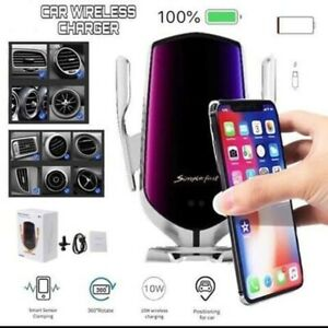 Smart Wireless Sensor Car Charger R2 Simple Fast Automatic Qi Phone Holder