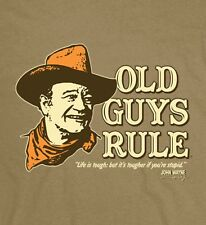 "Old Guys Rule John Wayne Life Is Tough.But It'S Tougher If Your Stupid"" S/S L"