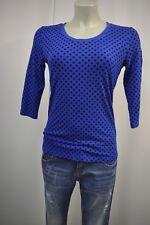 BASLER  Shirt Stretch  Tunika Gr. S  3/4 Arm Blau-Schwarz Polka Dots gepunktet