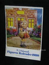 """Goebel Hummel Kalender Calendar 1980, Titelbild """"Erster Schulgang, Mädchen"""""""