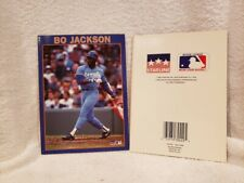 VERY RARE Bo Jackson 1989 Starline Greeting Card, Kansas City Royals, NICE!