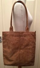 Paravidino Pearlised Tan Distressed Leather Tote Shoulder Bag Handbag Shopper