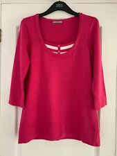 NEW Marks & Spencer Ladies Jumper Size 16 M&S Womens Pink Jumper Cotton Pullover