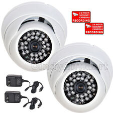 2 Dome Security Camera w/ Sony Effio CCD 600TVL Outdoor 28 IR LED Wide Angle wtc