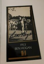 Ben Hogan Autographed Signed Card PGA British US Open Masters Collection no COA