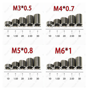 M3 M4 M5 M6 M8 M10 M12 Stainless Steel Helicoil Insert Thread Repair Inserts