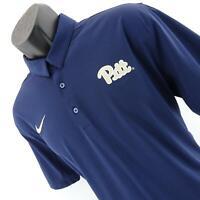 Mens Nike Dri Fit University Pittsburgh Pitt Panthers Golf Polo Shirt Size Large