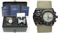 Orologio Nautica mx62 oversize military watch bussola doppio fuso orario clock