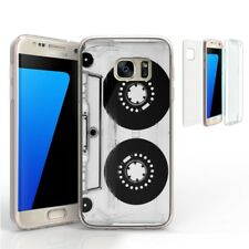 For Galaxy S7 G930 Transparent Slim Full Body Protector Case Casette Tape