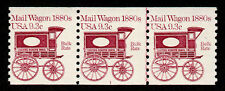 United States, Scott # 1903, Coil Strip Of 3 Pnc # 1, Mail Wagon 1880s 9.3₵ Bulk