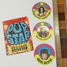 1970S POP STAR FABRIC STICKERS GILBERT O'SULLIVAN DEMIS ROUSSOS GARY GLITTER #2!