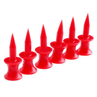 100Pcs 30mm Red Plastic Step Down Golf Tees Graduated Castle Tee HeightM