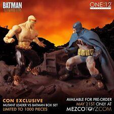 One: 12 Collective The Dark Knight Returns BATMAN vs MUTANT LEADER Box Set Mezco