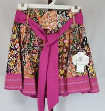 XOXO Womens Ladies Pink Multi Color Floral Short Skirt Size 0 NEW