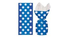 Unique Polka Dot Cellophane Bags Blue Party Favour Gift Bags