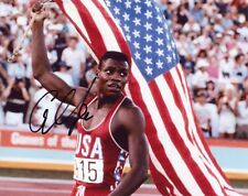 "~~ CARL LEWIS Authentic Hand-Signed ""1984 GOLD MEDAL USA OLYMPICS"" 8x10 photo ~"