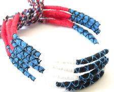 Lot 5 Bracelets Brésiliens de l'Amitié Macramé coton Friendship bleu blanc rouge