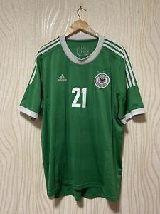 GERMANY 2012 2013 AWAY FOOTBALL SHIRT SOCCER JERSEY ADIDAS X21412 sz XXL #21 REU