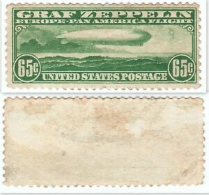 US SC# C13 UNUSED NO GUM GRAF ZEPPELIN STAMP LOOKS PERFECT FROM FACE