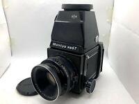 【EXC+5】MAMIYA RB67 Pro + Cds Finder + SEKOR 127mm F3.8 + 120 FilmBack From JAPAN