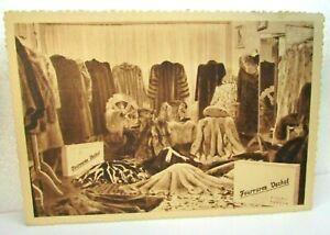 Vintage Postcard Real Photo 1920s Toulon France FURS Fourrures Vachot RPPC