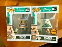 Mayor Set of 2 Common + CHASE Disney NBX Funko Pop Vinyl New in Mint Boxes + P/P