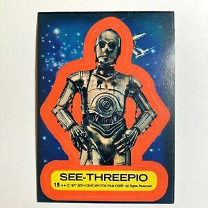 #15 See-Threepio Sticker 1977 Topps Star Wars Series 2