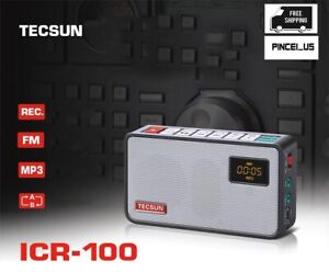 TECSUN ICR-100 FM Stereo Radio Digital Recorder MP3 Player Pocket FM Radio pe66