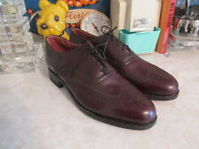 Vintage  IMPERIAL Shoes Sz 9.5 D Mens Oxfords Leather Wingtip new old stock